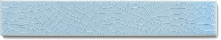 Plain glazed wall tile F 10.609 Ri, Winterblau, listello