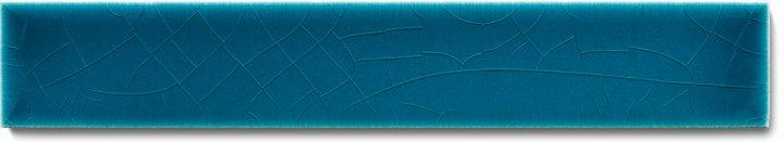 Einfarbig glasierte Wandfliese F 10.610 Ri, Blaugrün dunkel, Riemchen