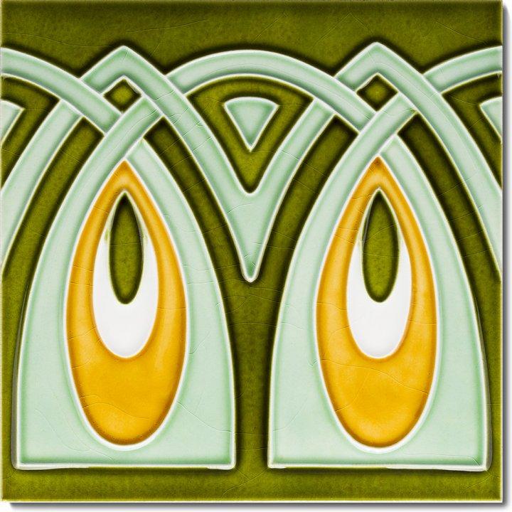 Art Nouveau tile F 12