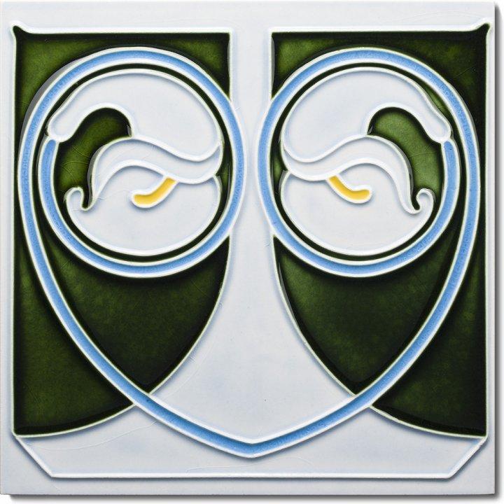 Art Nouveau tile F 17 V3