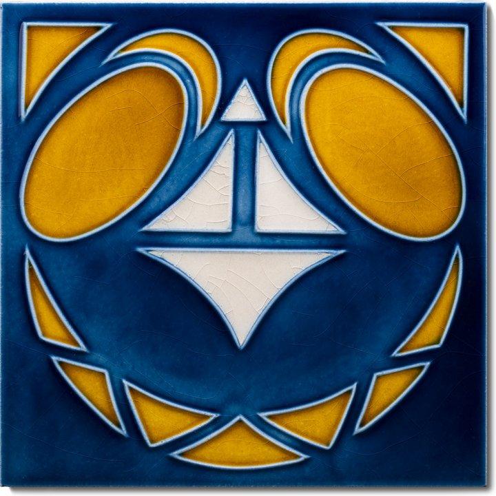 Art Nouveau tile F 18a V2