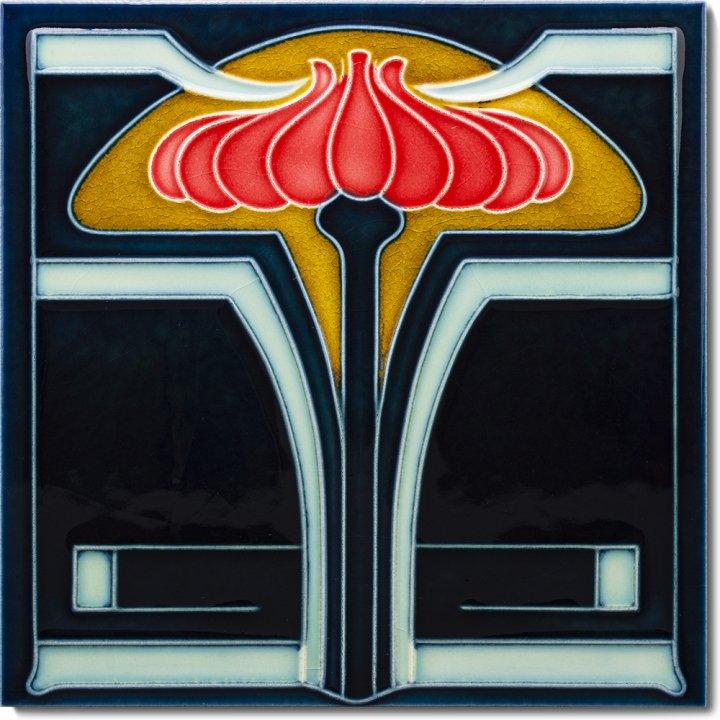 Art Nouveau tile F 26 V3