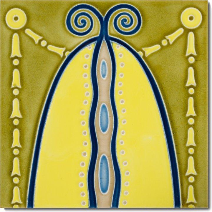 Art Nouveau tile F 82a V1