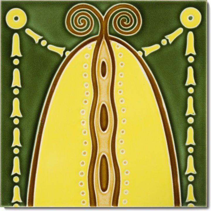 Art Nouveau tile F 82a V2