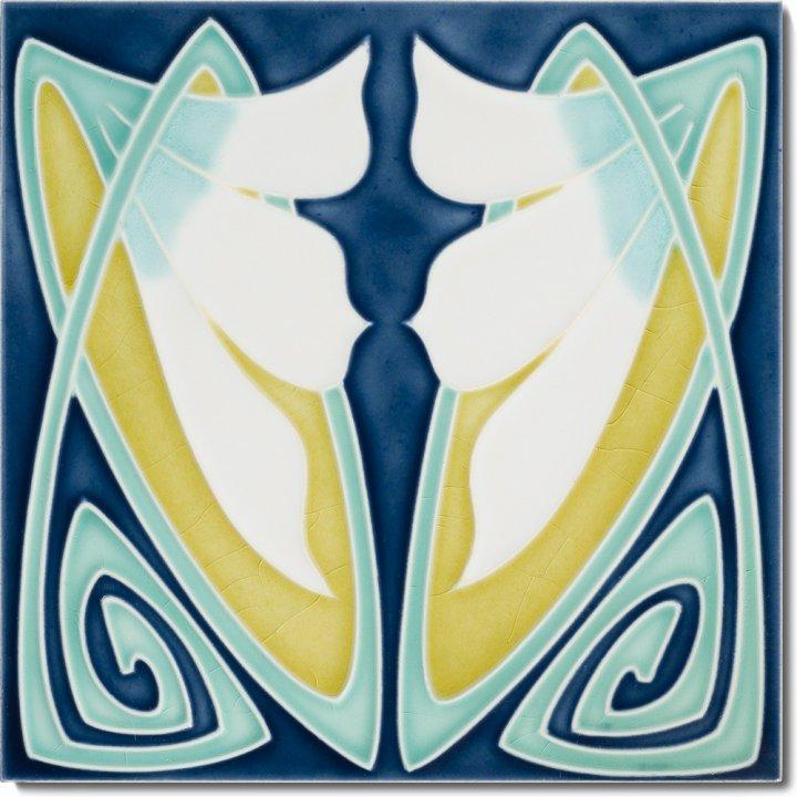 Art Nouveau tile F 83 V2