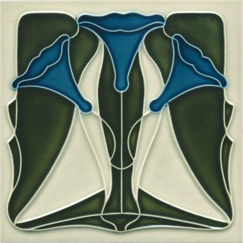 Art Nouveau tile F 135  V1