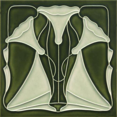 Art Nouveau tile F 135 V3