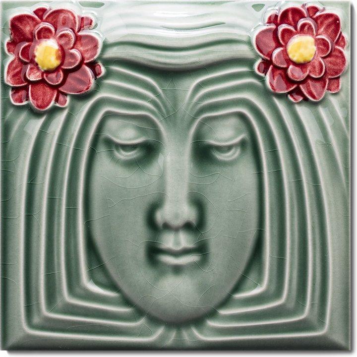 Art Nouveau tile F 5 V1
