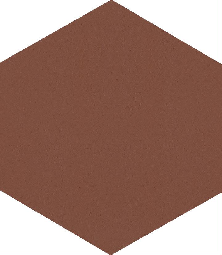 Hexagonal tile SF 17.9, braun
