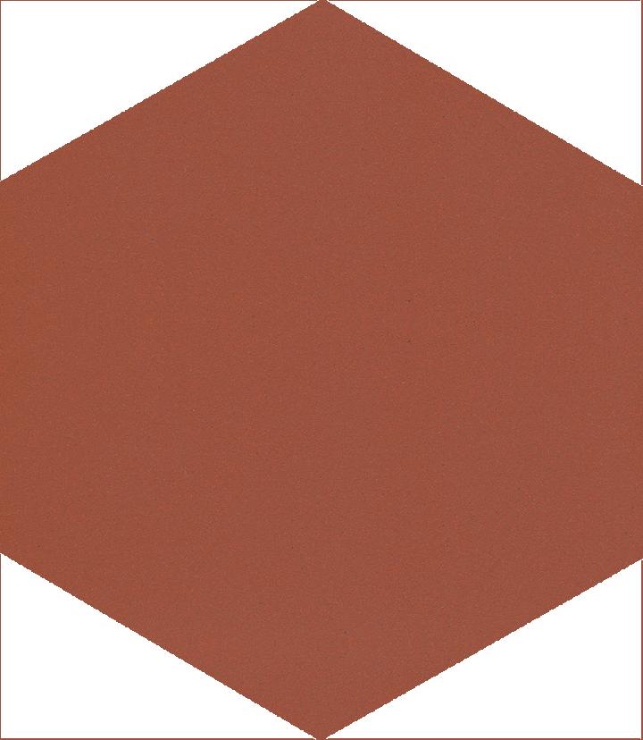Hexagonal tile SF 17.10, ziegelrot