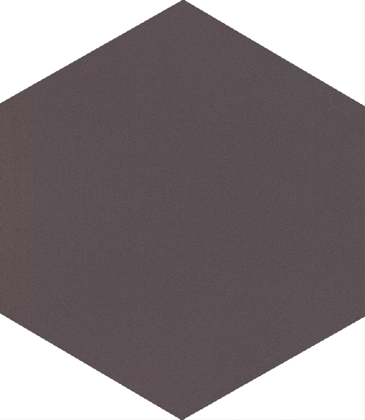 Carreau hexagonal SF 17.11, schwarzbraun