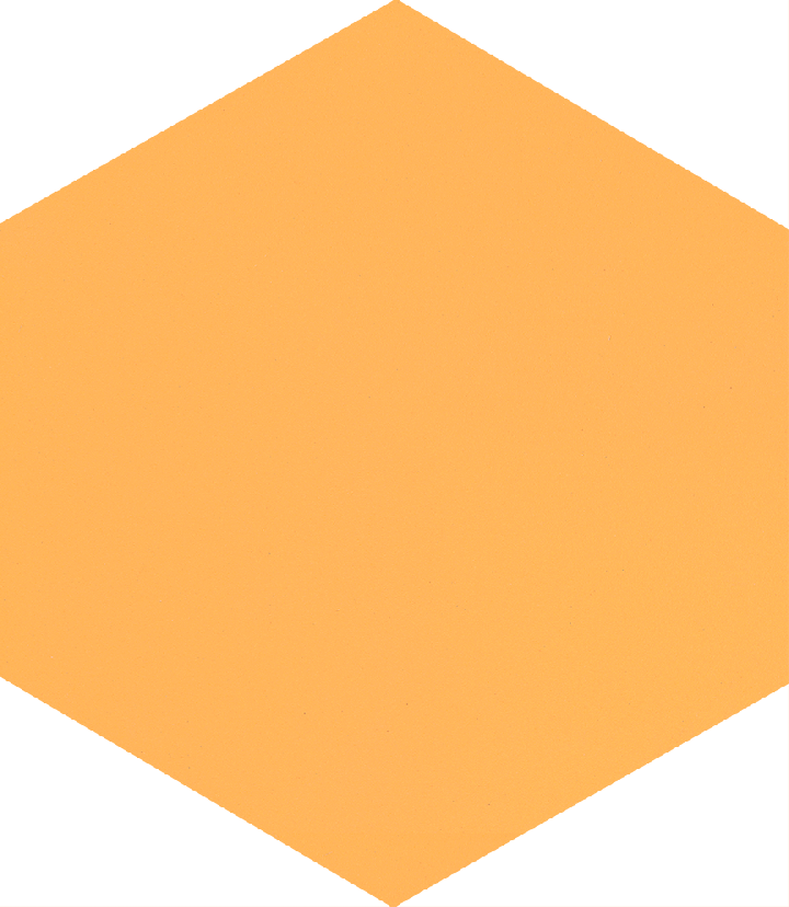 Hexagonal tile SF 17.12 S, gelb kräftig