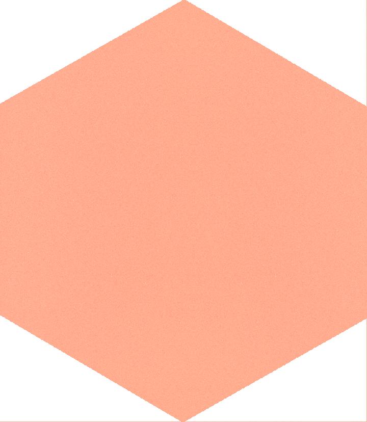 Sechseckfliese SF 17.16 S, rosa kräftig