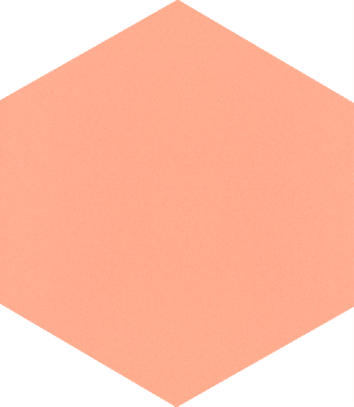 Hexagonal tile SF 17.16 S, rosa kräftig