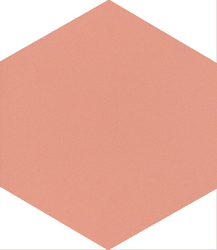 Sechseckfliese SF 17.17 S, rosa gedeckt