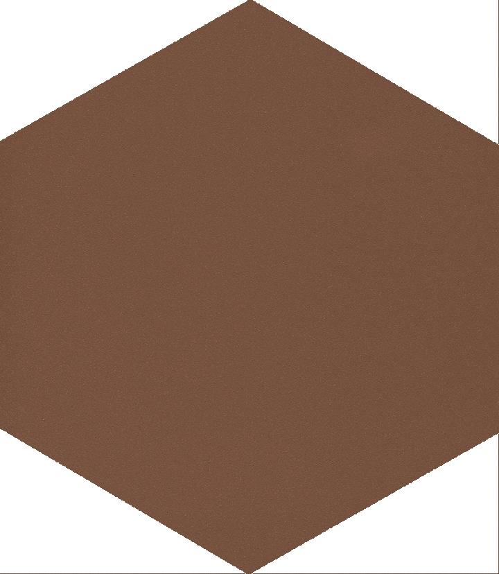 Sechseckfliese SF 17.24 S, dunkelbraun
