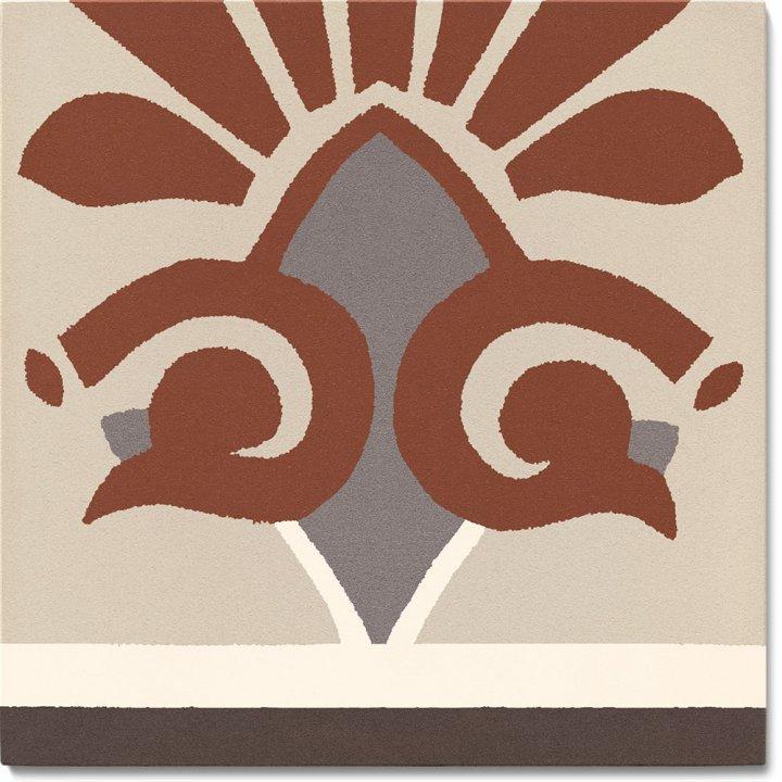 Stoneware tile SF 304 F unten, Historic Stoneware