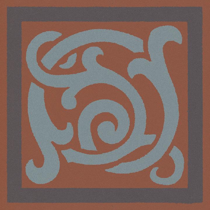 Steinzeugfliese SF 333 L e, Ornament