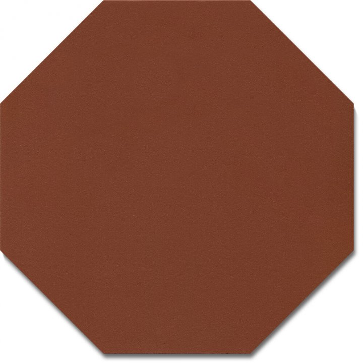 Carreau octogonal SF 80 A.10, ziegelrot