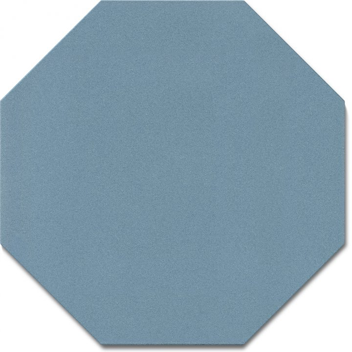 Octagonal tile SF 80 A.13, blau gedeckt