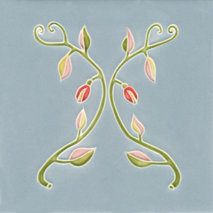 """Tile designed by Artist FCC 16 V1 """"Zweige"""""""