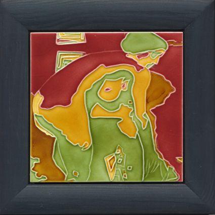 "Tile designed by Artist FTG 5 V1 ""Blick ins Fenster"""