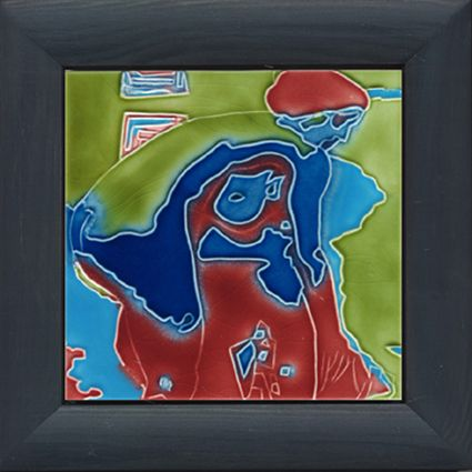 "Tile designed by Artist FTG 5 V2 ""Blick ins Fenster"""