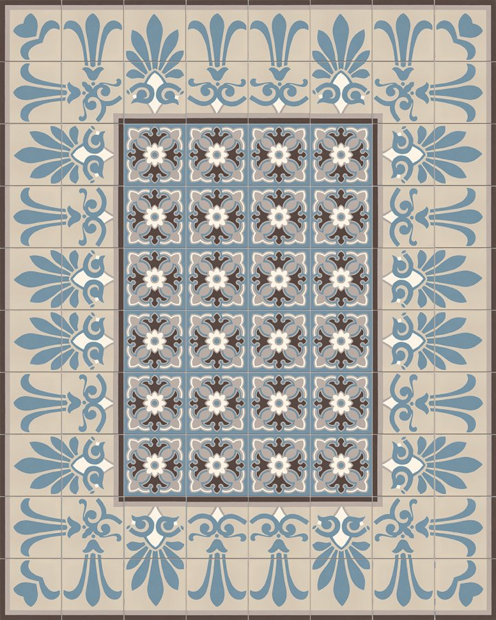 Floor tiles Floor Tiles multi-coloured Layouts and patterns SF 303 A e oben