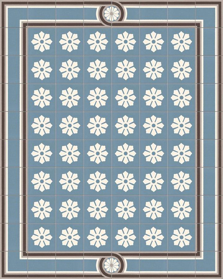 alte-fliesenmuster-blau-SF 505 A + SF 504 M1 + SF 244 Aa-17x17