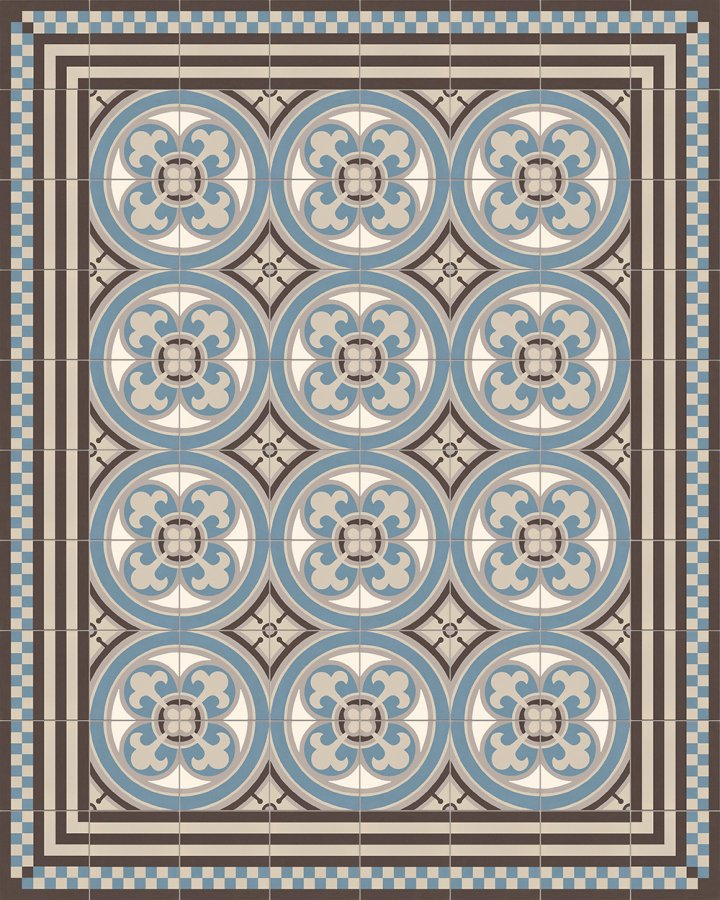 Floor tiles Floor Tiles multi-coloured Layouts and patterns SFTG 8303 A