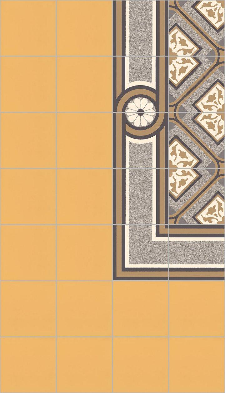 Carreaux pour sol Carreaux en grès - monochromes Calepinage SF 10.19 S rand