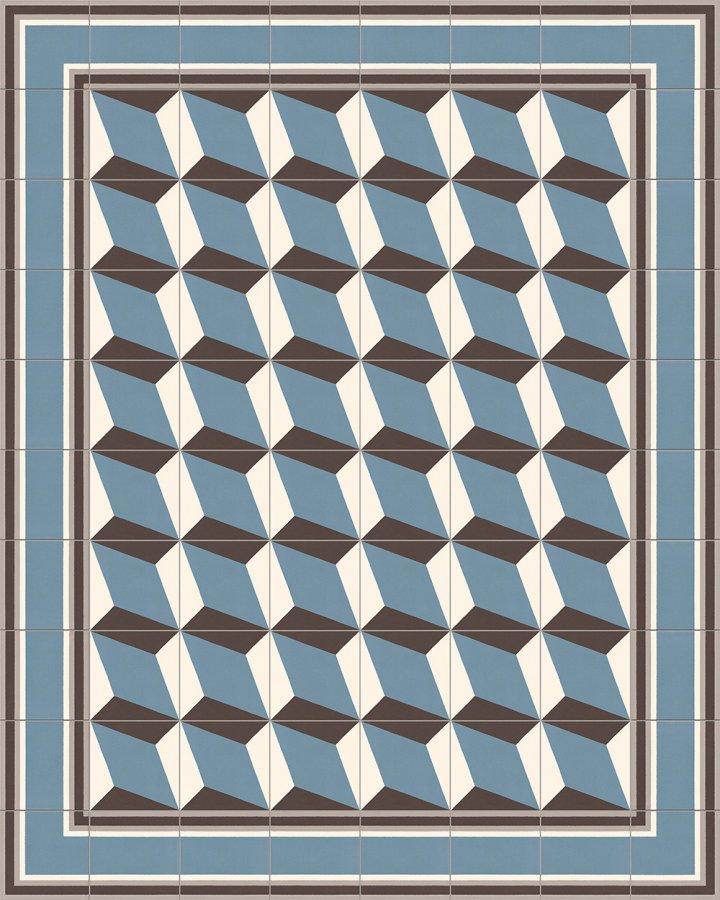Carreaux pour sol Grès fin - polychrome Calepinage SF 302 A