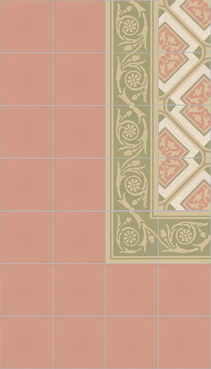 Floor tiles Art Nouveau tiles Floor tiles SF 10.17 S rand
