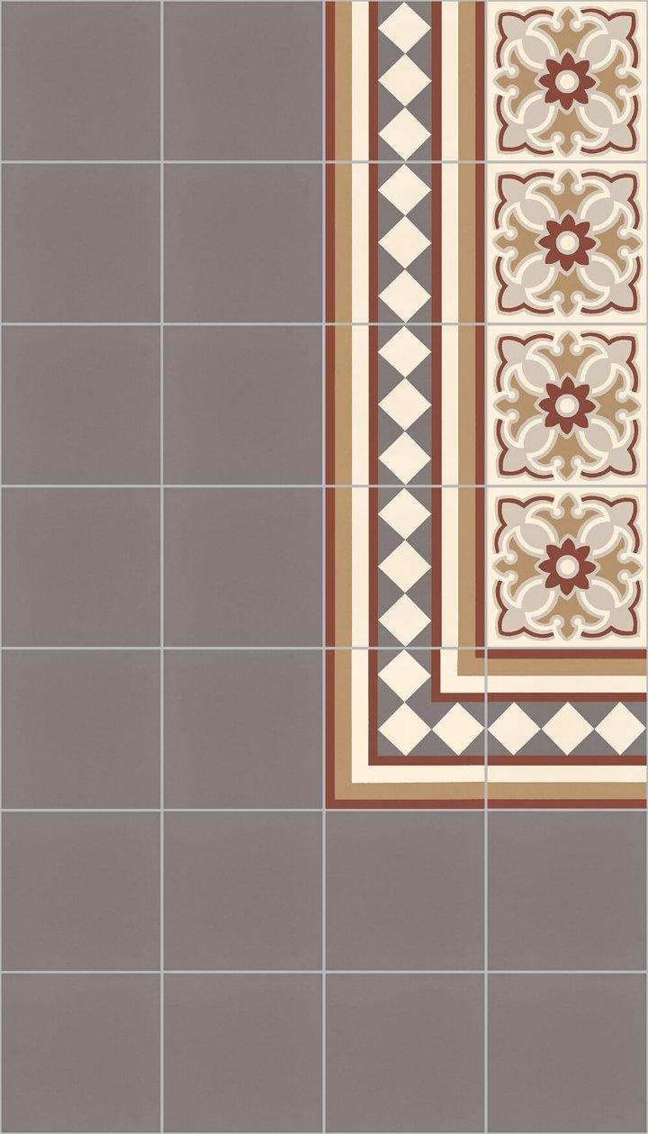 Carreaux pour sol Carreaux en grès - monochromes Calepinage SF 10.5 rand