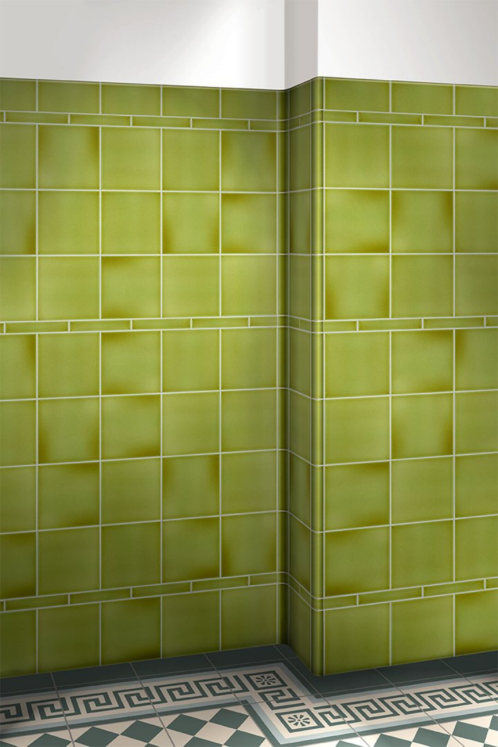 Wall tiles single-coloured Verlegebeispiel F 10.10