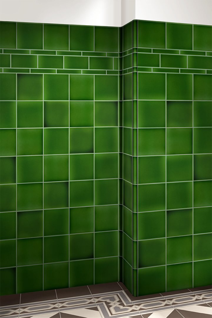 Wall tiles single-coloured Verlegebeispiel F 10.14