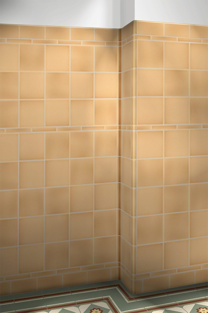 Wall tiles single-coloured Verlegebeispiel F 10.1