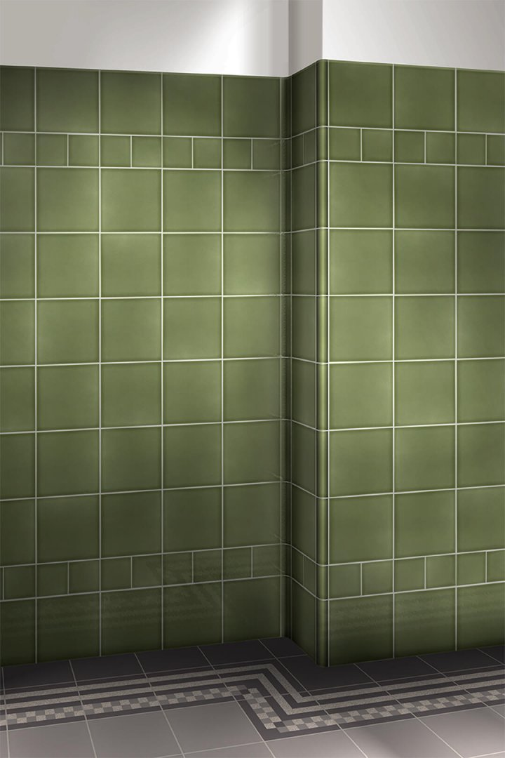Wall tiles single-coloured Verlegebeispiel F 10.33