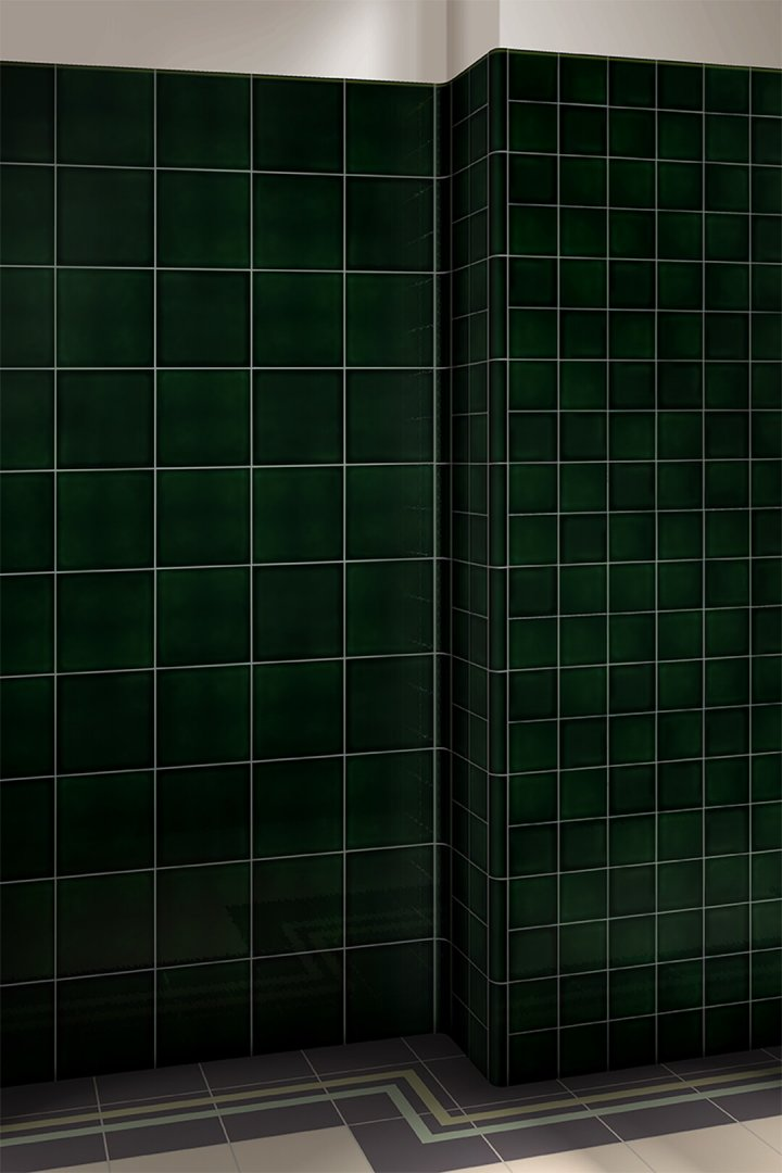 Wall tiles single-coloured Verlegebeispiel F 10.34