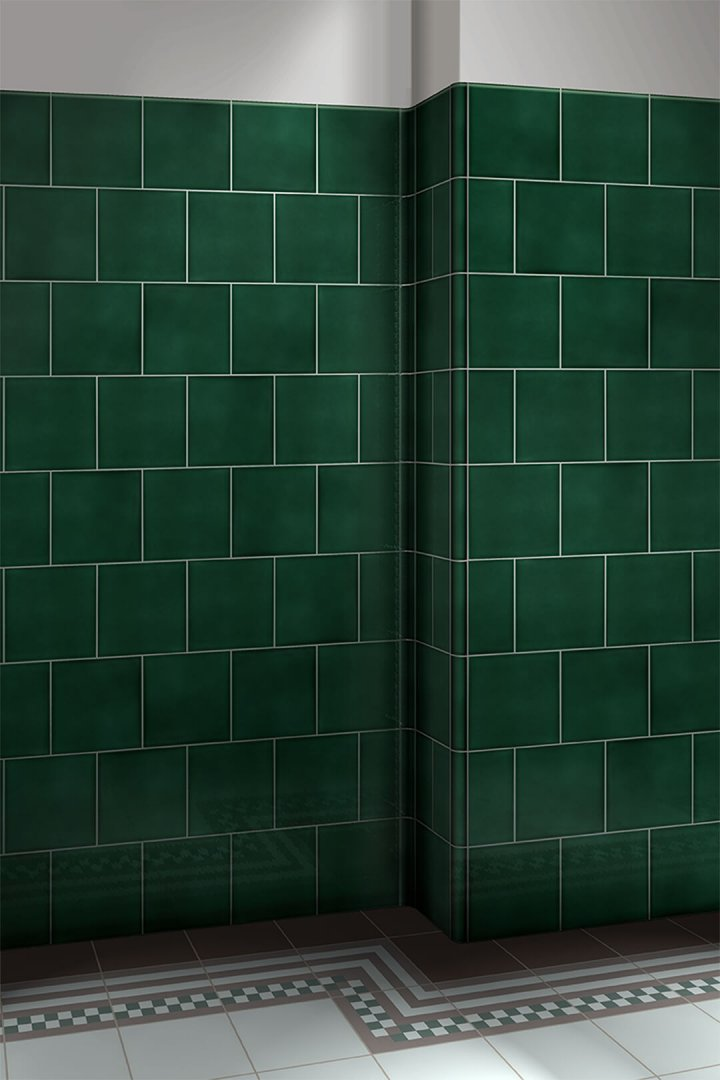 Wall tiles single-coloured Verlegebeispiel F 10.35