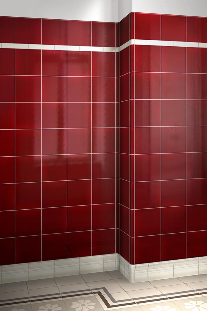Wall tiles single-coloured Verlegebeispiel F 10.405