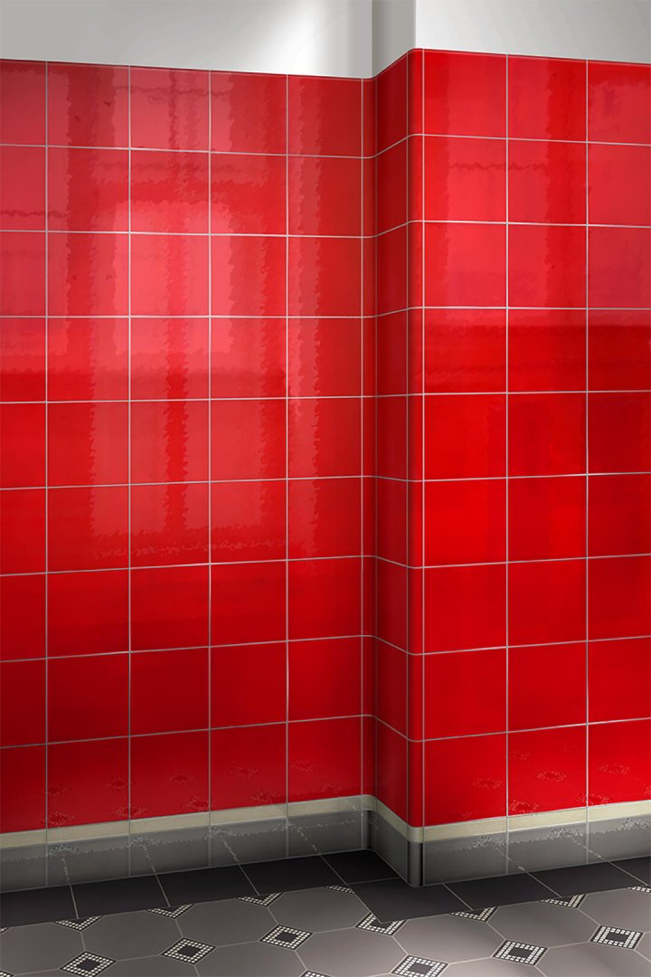 Wall tiles single-coloured Verlegebeispiel F 10.410