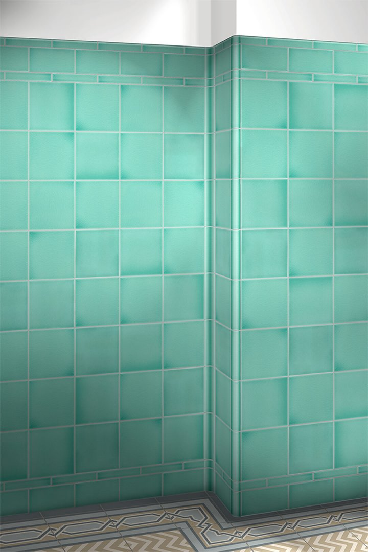 Wall tiles single-coloured Verlegebeispiel F 10.5