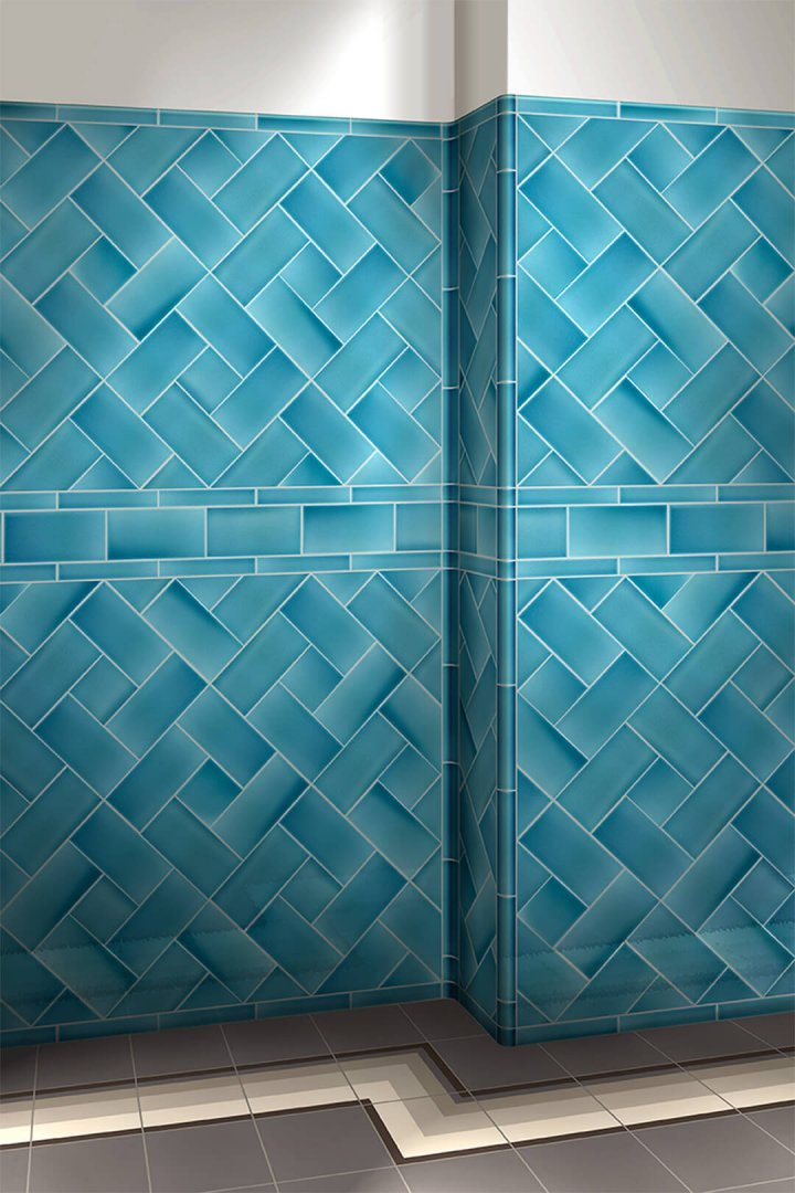 Wall tiles single-coloured Verlegebeispiel F 10.622