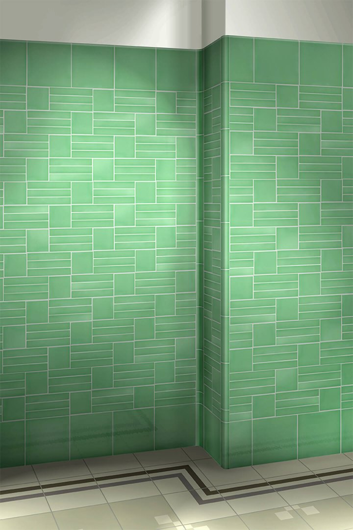 Wall tiles single-coloured Verlegebeispiel F 10.62