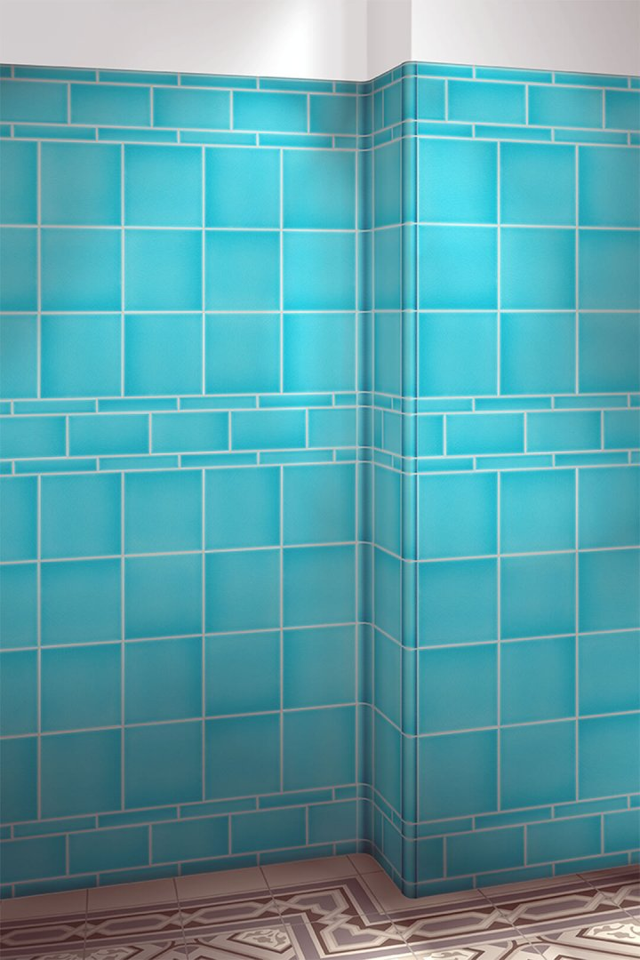 Wall tiles single-coloured Verlegebeispiel F 10.6