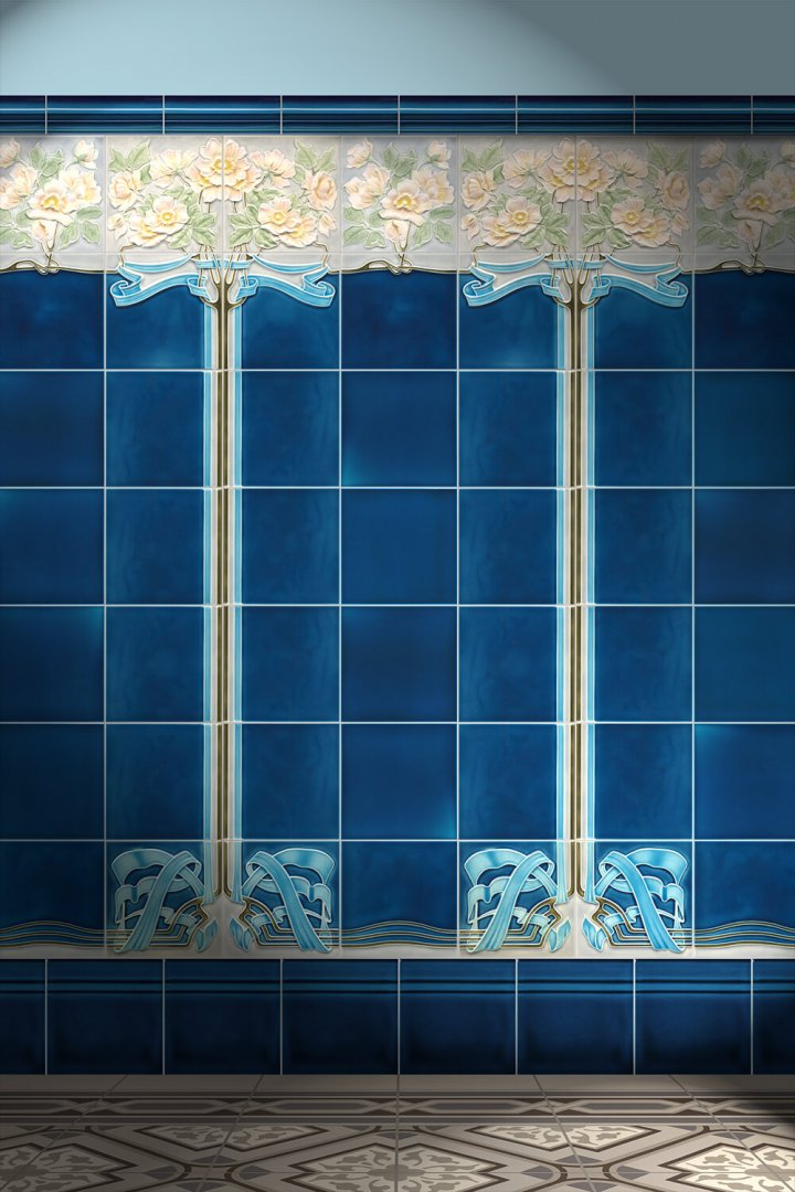 Wall tiles Tiles decorated Verlegebeispiel F 101L