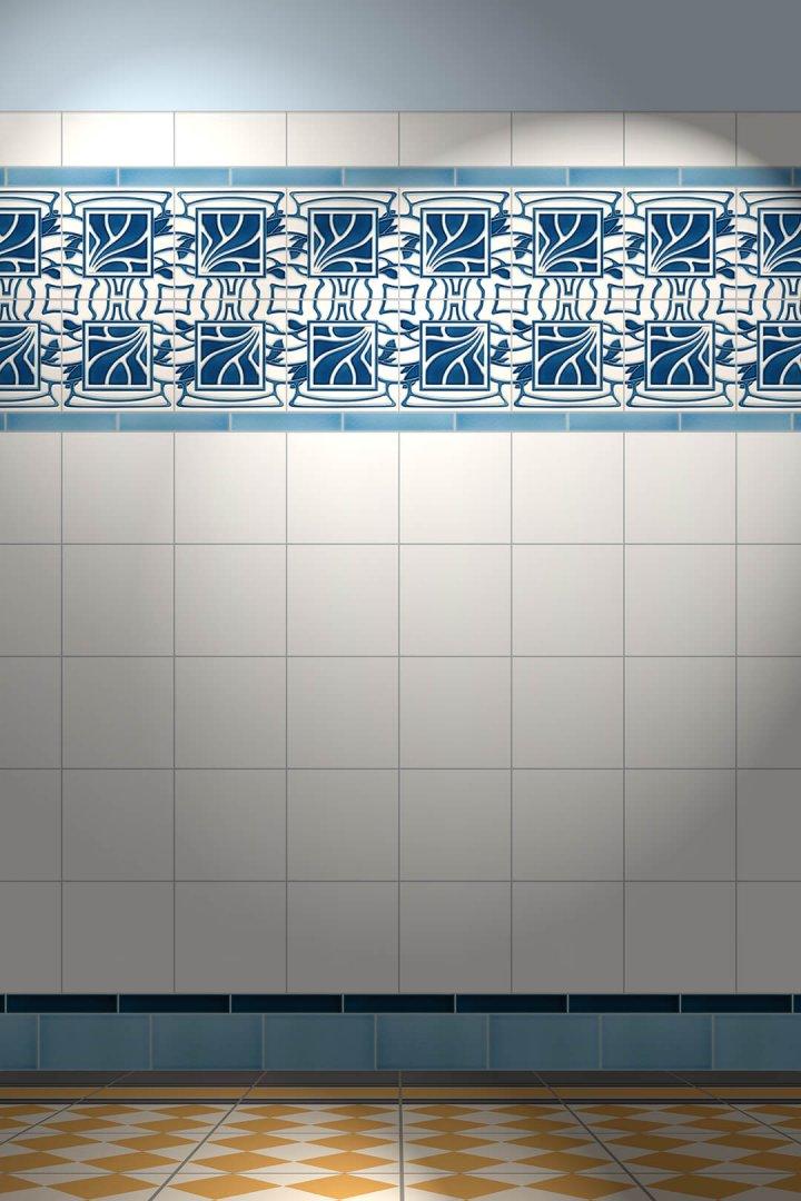 Carreaux muraux  Avec motifs Verlegebeispiel F 113 V1