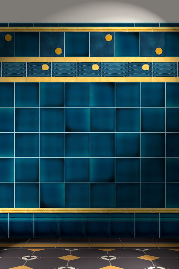 Wall tiles Tiles decorated Verlegebeispiel F 118c V1