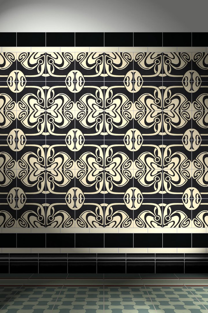 Carreaux muraux  Avec motifs Verlegebeispiel F 131L V1